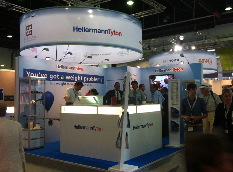 Paris Air Show 2013 - Messestand HellermanTyton